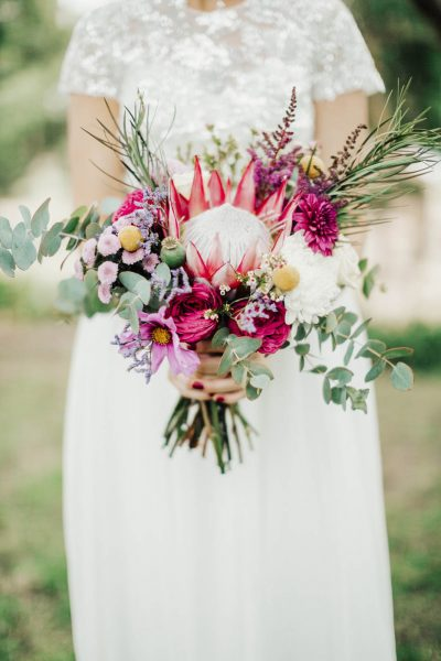 POP Floristry Melbourne Protea Bouquet