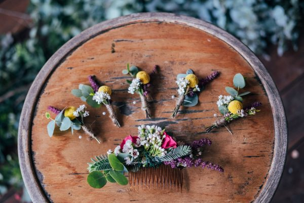POP Floristry Melbourne Wedding Floral Hairpiece