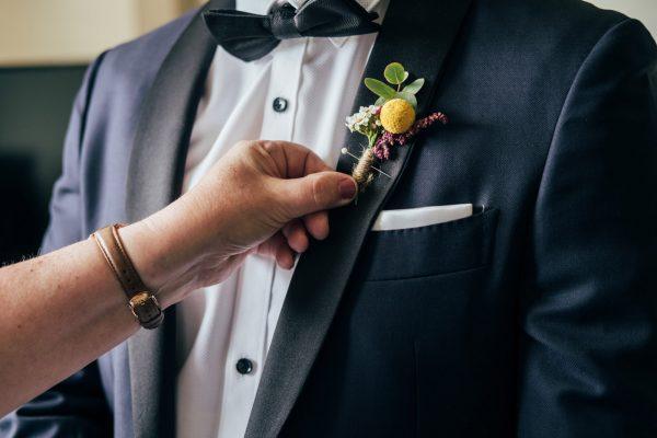 POP Floristry Melbourne Wedding Suit Floral Lapel Pins