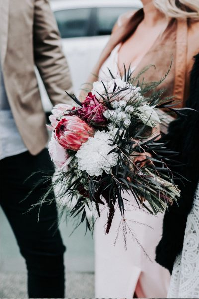 POP Floristry Melbourne Wedding Florist Protea Bouquet